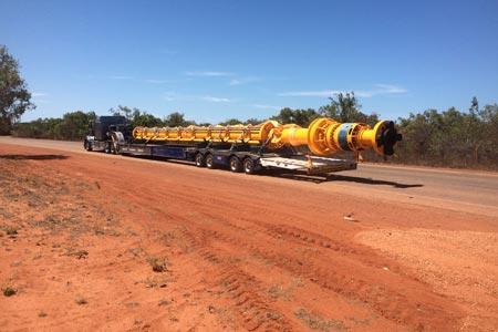 One of our heavy transport vehicles in Broome